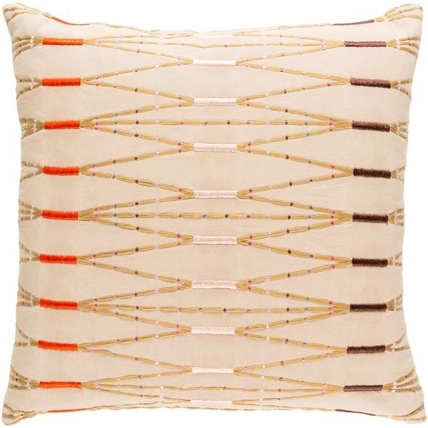 Decorative Sarreguemines Cream 20-inch Throw Pillow Cover