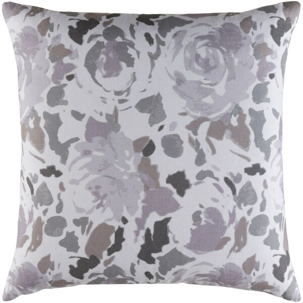 Decorative Sain Lilac 20-inch Throw Pillow Cover
