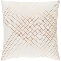 Decorative Rosa White 22-inch Throw Pillow Cover