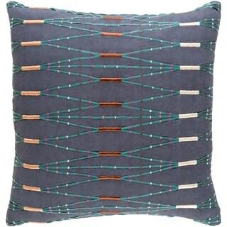Decorative Sarreguemines Navy 18-inch Throw Pillow Cover