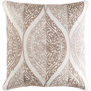 Decorative Somerton Taupe 22-inch Throw Pillow Cover