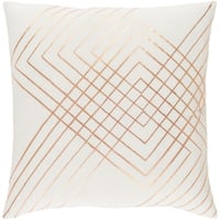 Decorative Rosa White 20-inch Throw Pillow Cover