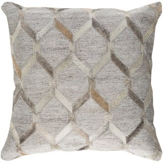 Decorative Schroeder Light Grey 20-inch Throw Pillow Cover