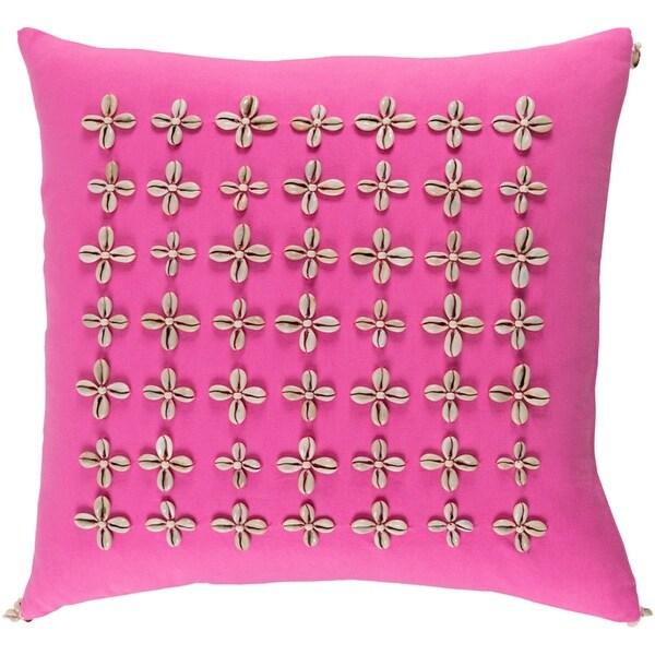Decorative Rotorua Pink 22-inch Throw Pillow Cover
