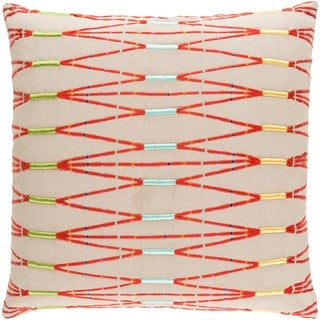 Decorative Sarreguemines Beige 18-inch Throw Pillow Cover
