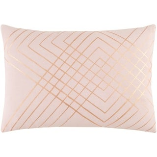 "Decorative Rosa Blush 13"" x 19"" Throw Pillow Cover"