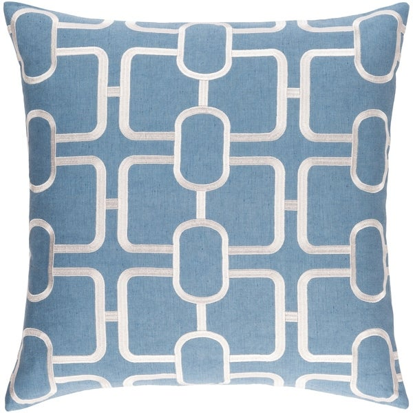 Decorative Stains Denim 22-inch Throw Pillow Cover