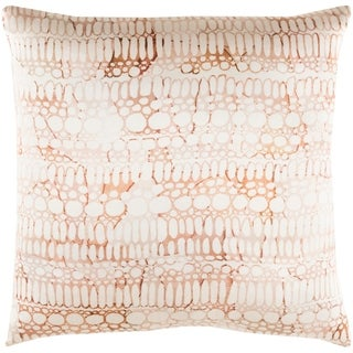 Decorative Suresnes Orange 20-inch Throw Pillow Cover