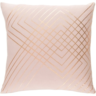 Decorative Rosa Blush 20-inch Throw Pillow Cover