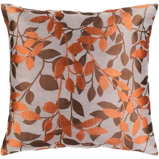Decorative Skegness Rust 18 Inch Leaves Throw Pillow Cover