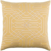 Decorative Stone Yellow 18-inch Throw Pillow Cover