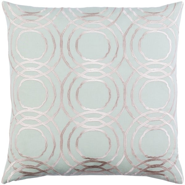 Decorative Steyning Mint 22-inch Throw Pillow Cover