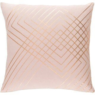 Decorative Rosa Blush 22-inch Throw Pillow Cover