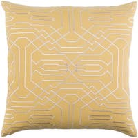 Decorative Stone Yellow 20-inch Throw Pillow Cover