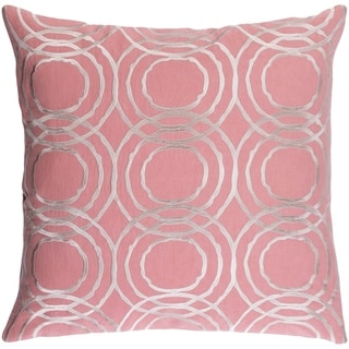 Decorative Steyning Light Pink 22-inch Throw Pillow Cover