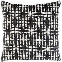 Decorative Staveley Black 18-inch Throw Pillow Cover