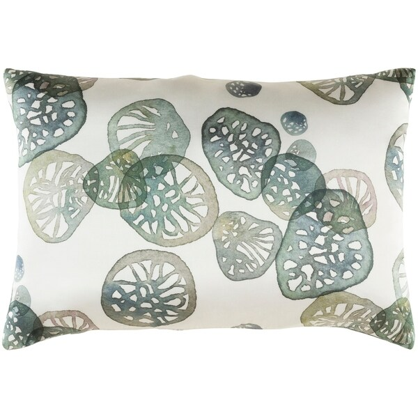 Decorative Stotfold Green Throw Pillow Cover (13 x 19)