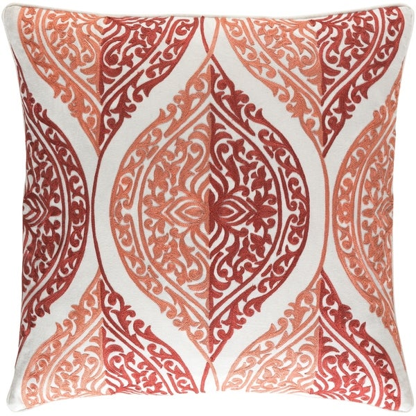 Decorative Somerton Coral 22-inch Throw Pillow Cover