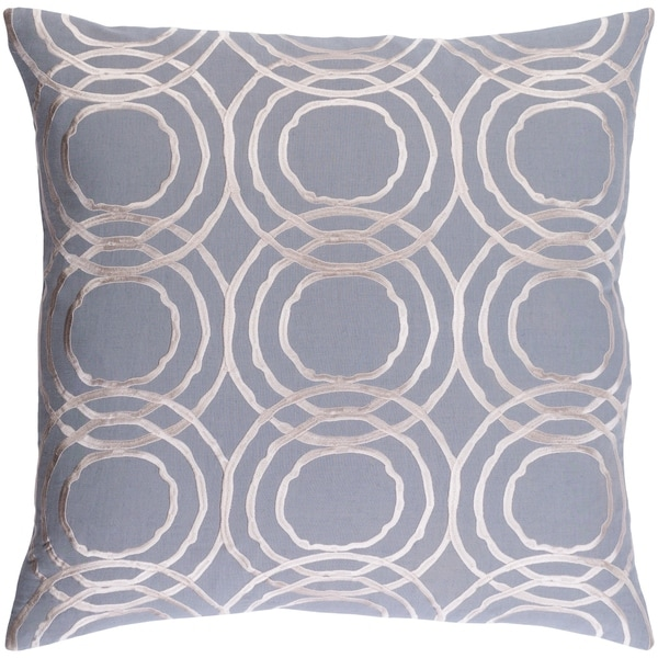 Decorative Steyning Grey 20-inch Throw Pillow Cover