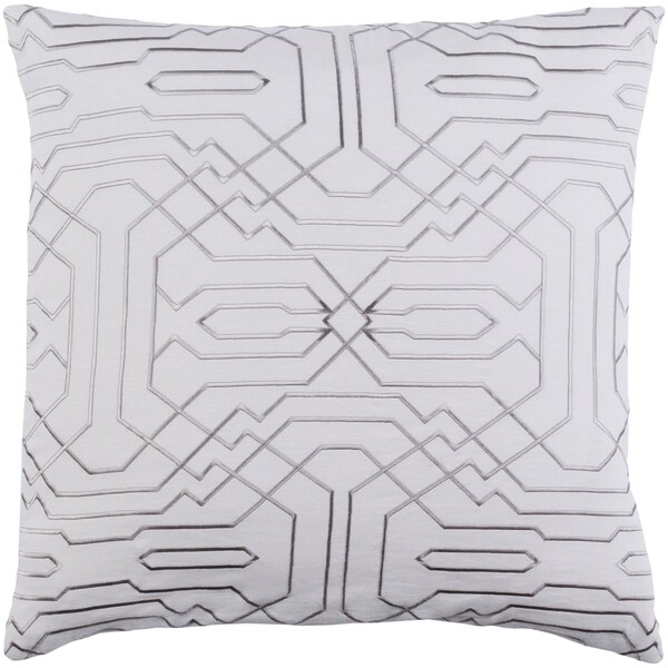 Decorative Stone White 22 Inch Throw Pillow Cover