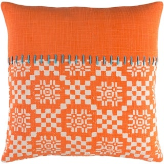 Decorative Turner Orange 18-inch Throw Pillow Cover