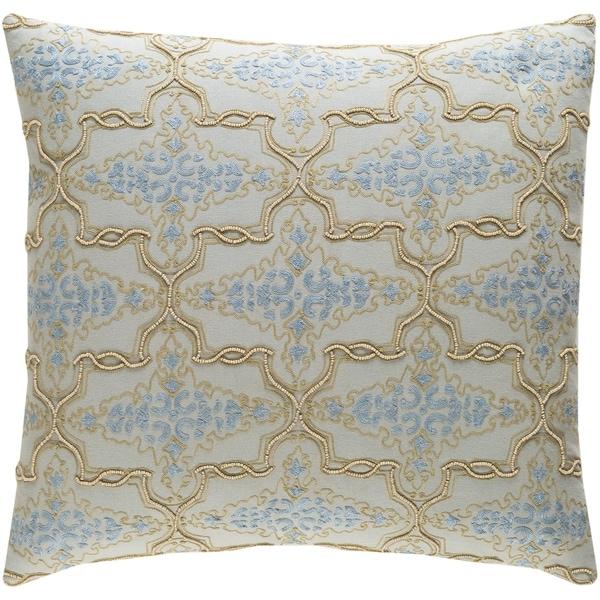 Decorative Savusavu Light Grey 22-inch Throw Pillow Cover