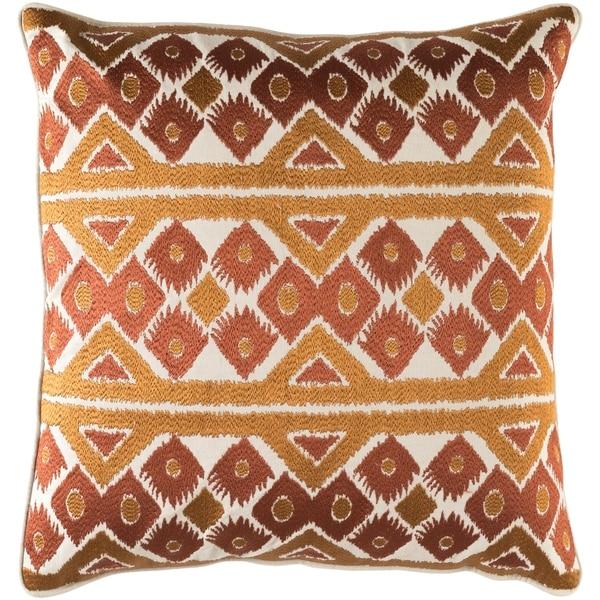 Decorative Sigatoka Brown 22-inch Throw Pillow Cover