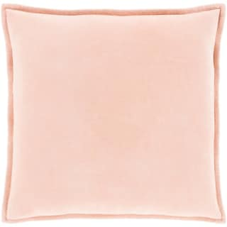 "Vianne Solid Peach Pillow - (Poly Fill 20"" x 20"")"