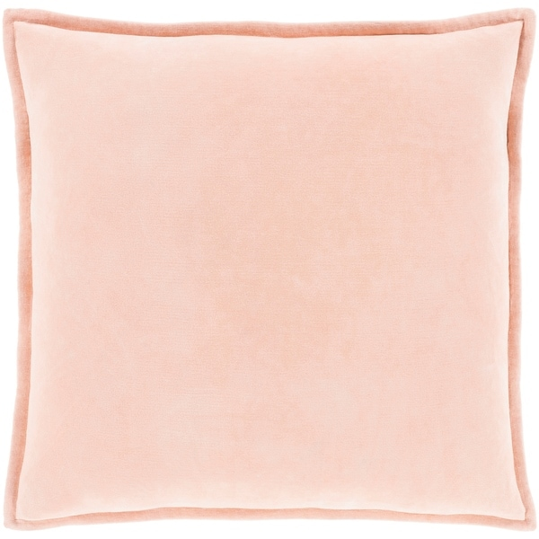 """Vianne Solid Peach Pillow - (Poly Fill 20"""" x 20"""")"""