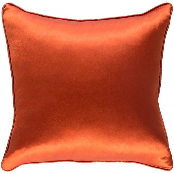 Decorative Verdi Orange 18-inch Throw Pillow Cover