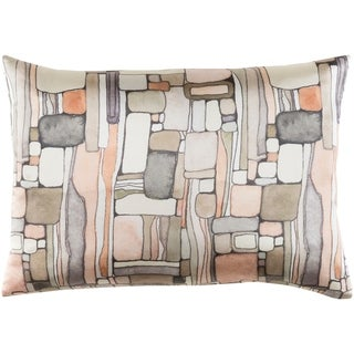 "Decorative Sunni Peach 13"" x 19"" Throw Pillow Cover"