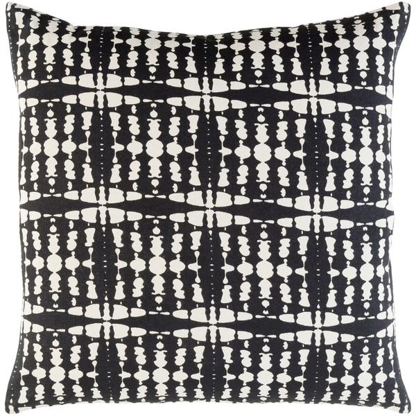 Decorative Staveley Black 20-inch Throw Pillow Cover