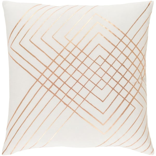 Decorative Rosa White 18-inch Throw Pillow Cover