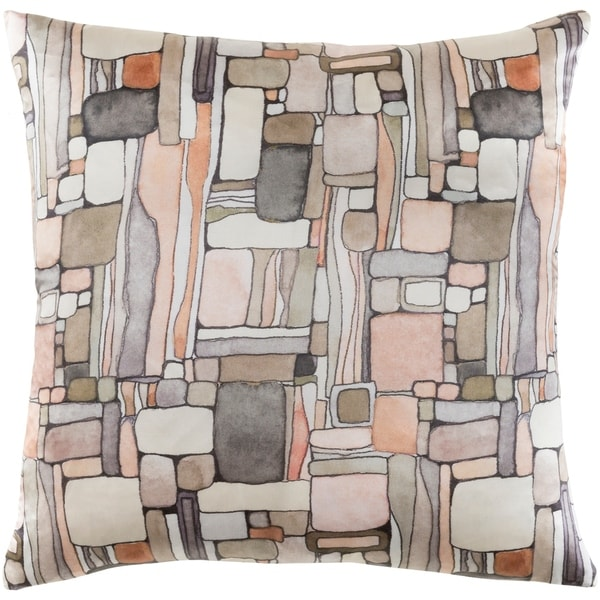 Decorative Sunni Peach 20-inch Throw Pillow Cover