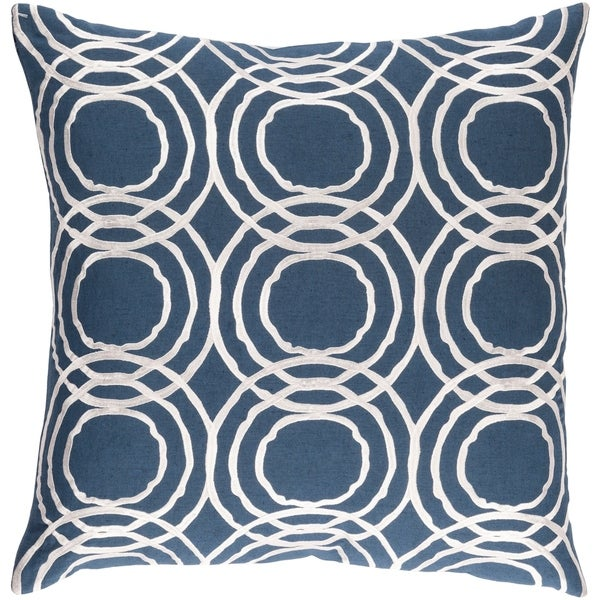 Decorative Steyning Navy 18-inch Throw Pillow Cover