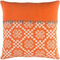 Decorative Turner Orange 20-inch Throw Pillow Cover
