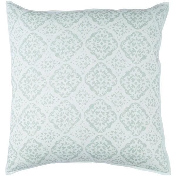 Decorative Villeurbanne Seafoam 20-inch Throw Pillow Cover