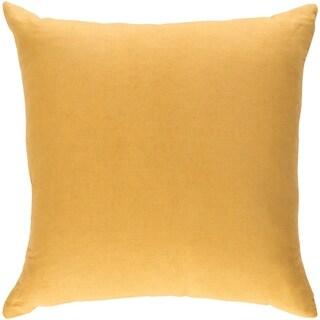 Decorative Villa Yellow 18-inch Throw Pillow Cover