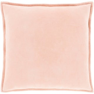 """Vianne Solid Peach Pillow - (Poly Fill 18"""" x 18"""")"""
