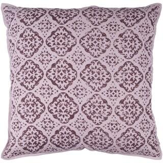 Decorative Villeurbanne Mauve 20-inch Throw Pillow Cover
