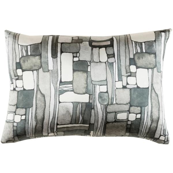 "Decorative Sunni Slate Grey 13"" x 19"" Throw Pillow Cover"