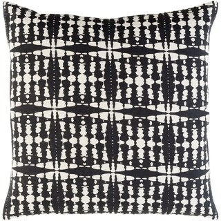 Decorative Staveley Black 22-inch Throw Pillow Cover