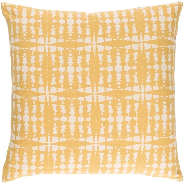 Decorative Staveley Yellow 18-inch Throw Pillow Cover