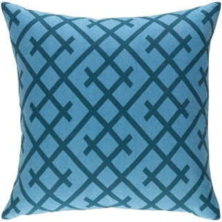 Decorative Water Blue 18-inch Throw Pillow Cover