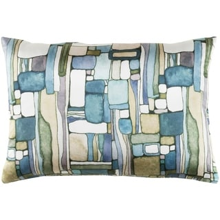 "Decorative Sunni Blue 13"" x 19"" Throw Pillow Cover"