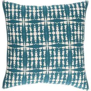 Decorative Staveley Teal Blue 22-inch Throw Pillow Cover