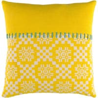 Decorative Turner Yellow 22-inch Throw Pillow Cover