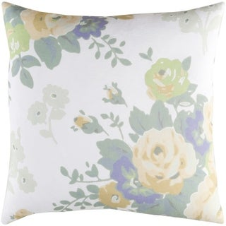 Decorative Ventura White 20-inch Throw Pillow Cover