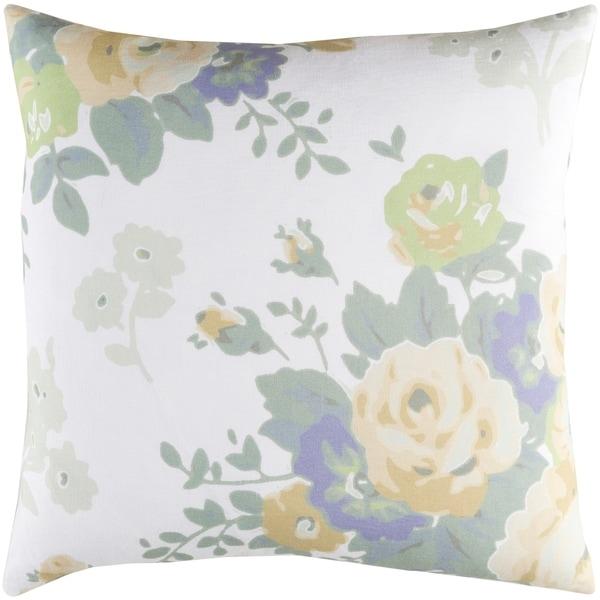Decorative Ventura White 20-inch Throw Pillow Cover