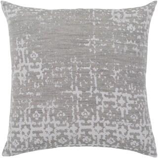 """Leopold Grey & White Throw Pillow Cover (18"""" x 18"""")"""